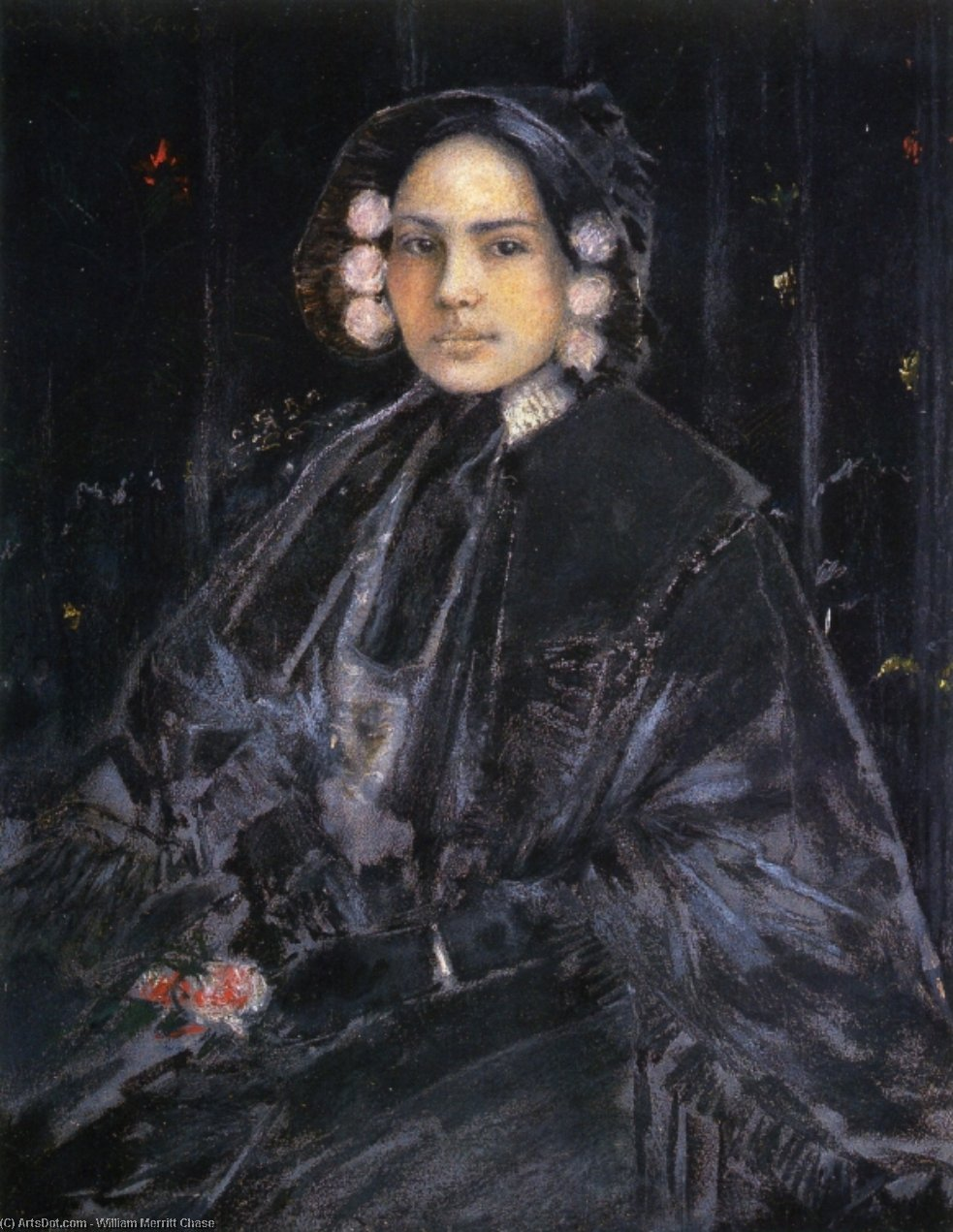 朱利叶斯的肖像夫人Erson的, 1890 通过 William Merritt Chase (1849-1916, United States) | ArtsDot.com