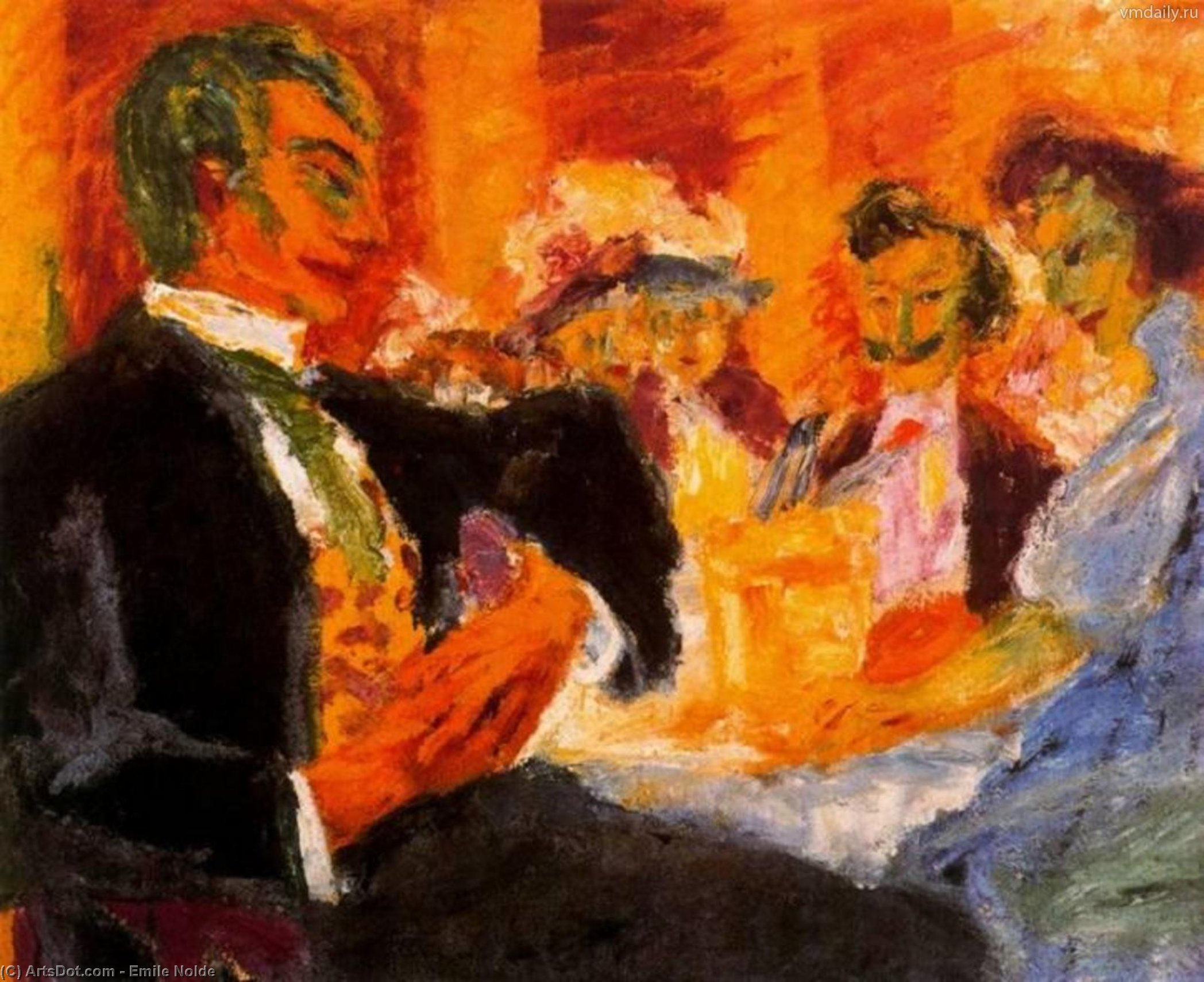 在 咖啡 通过 Emile Nolde (1867-1956, Germany)