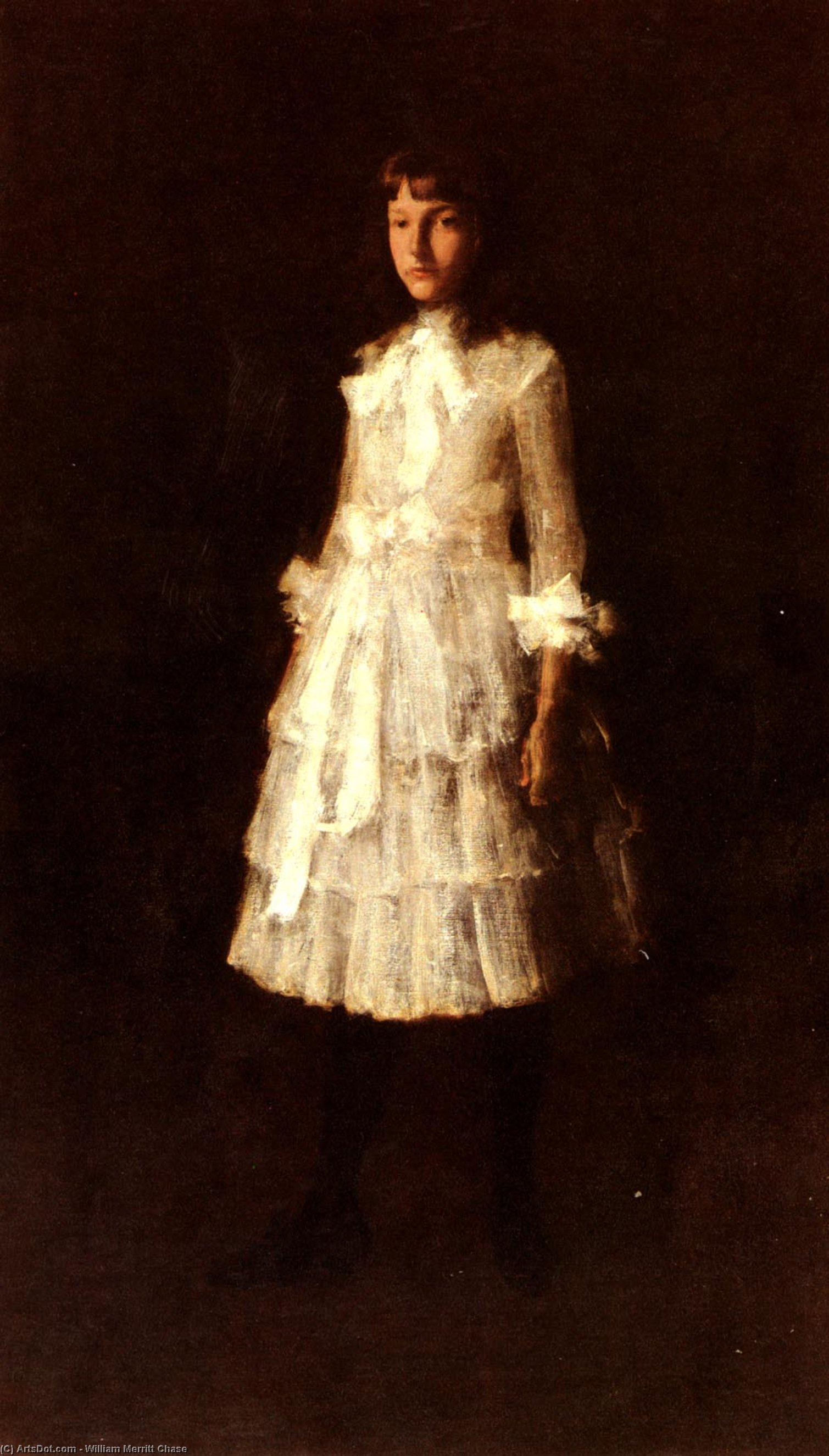 , 油画 通过 William Merritt Chase (1849-1916, United States)