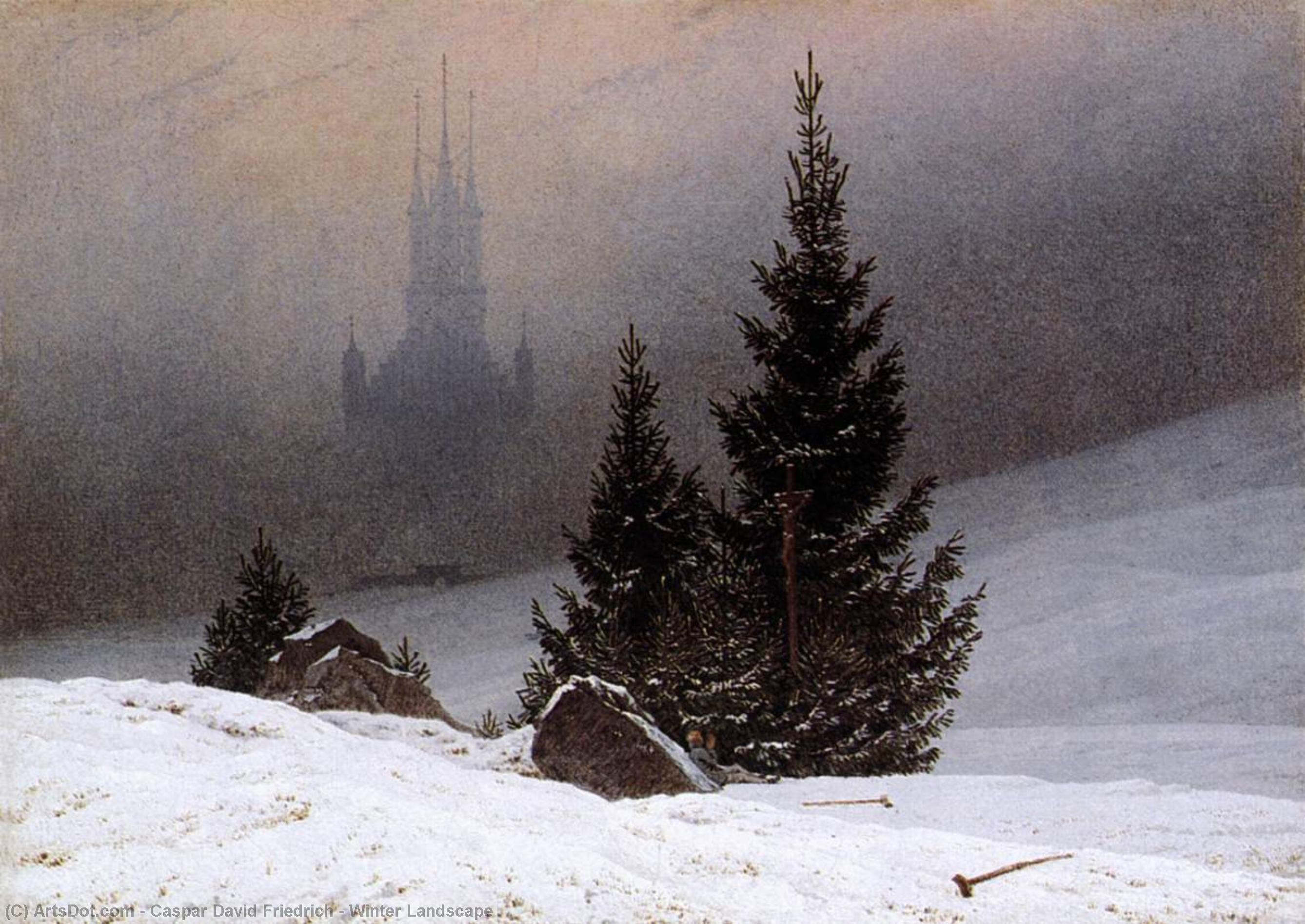 冬季 景观, 1811 通过 Caspar David Friedrich (1774-1840, Germany) | 畫再現 | ArtsDot.com