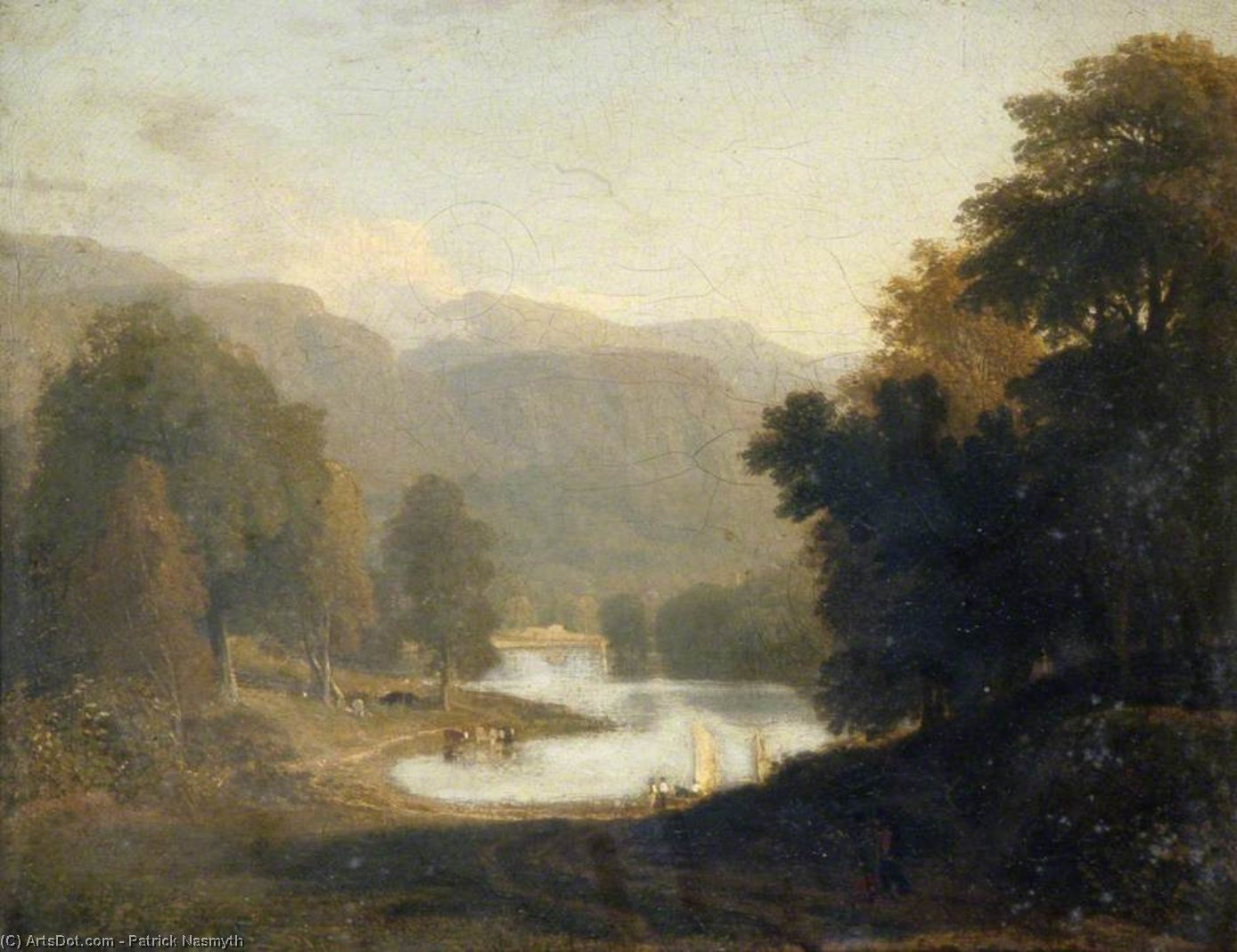 风景 -   通过 Patrick Nasmyth (1787-1831, United Kingdom)