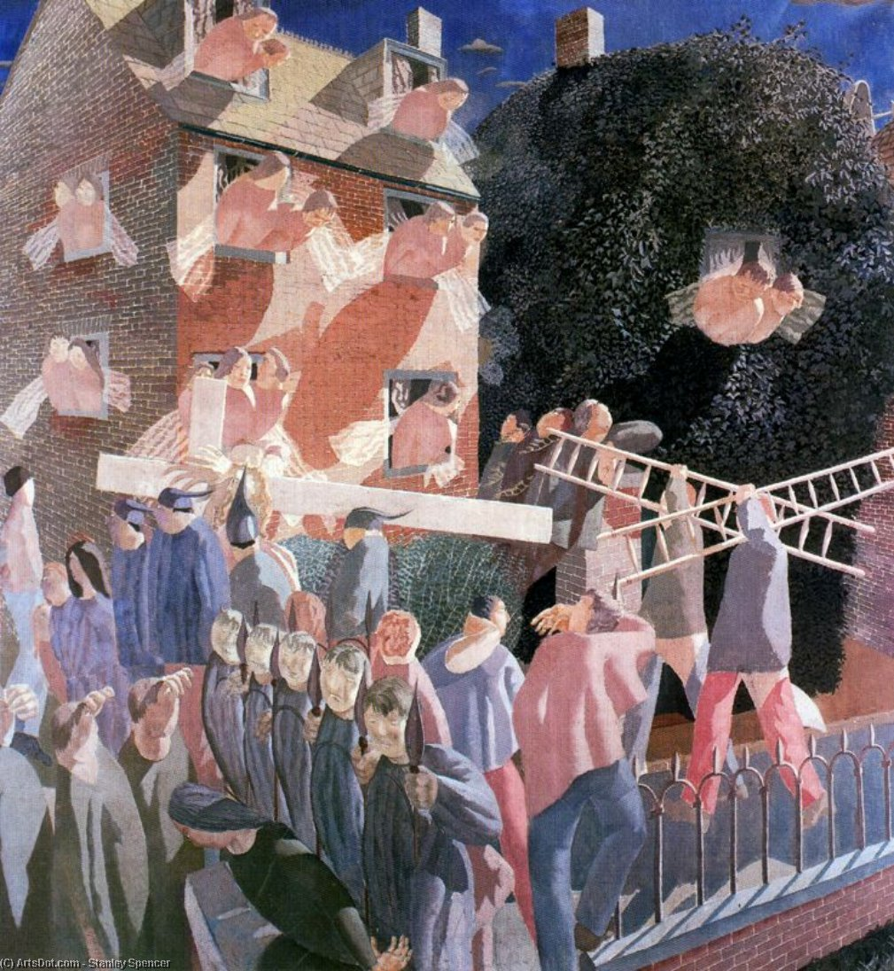基督背着Cross 通过 Stanley Spencer (1891-1959, United Kingdom) | ArtsDot.com