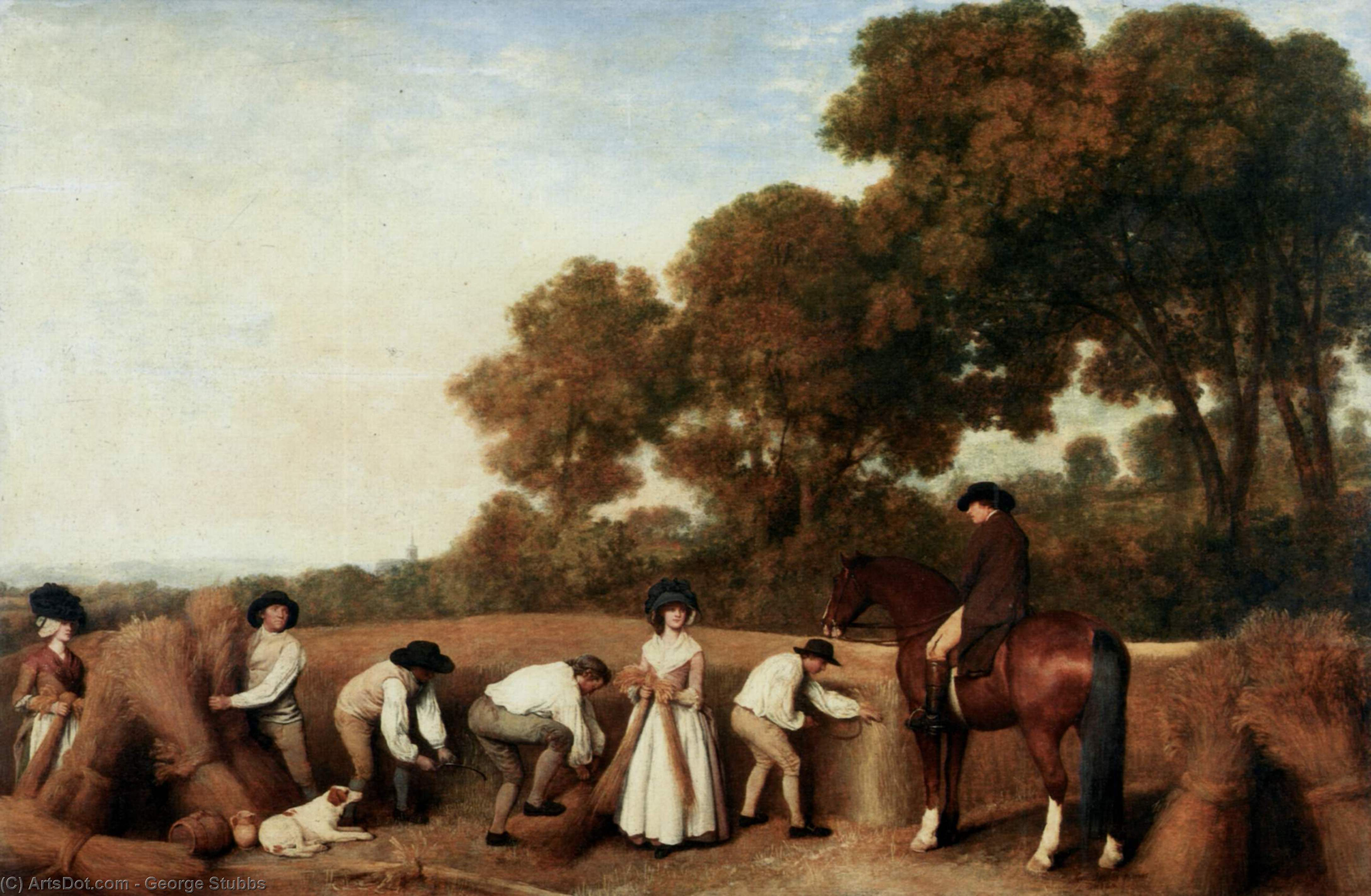 顺序 傑作拷貝 : 收获, 1785 通过 George Stubbs (1724-1806, United Kingdom) | ArtsDot.com