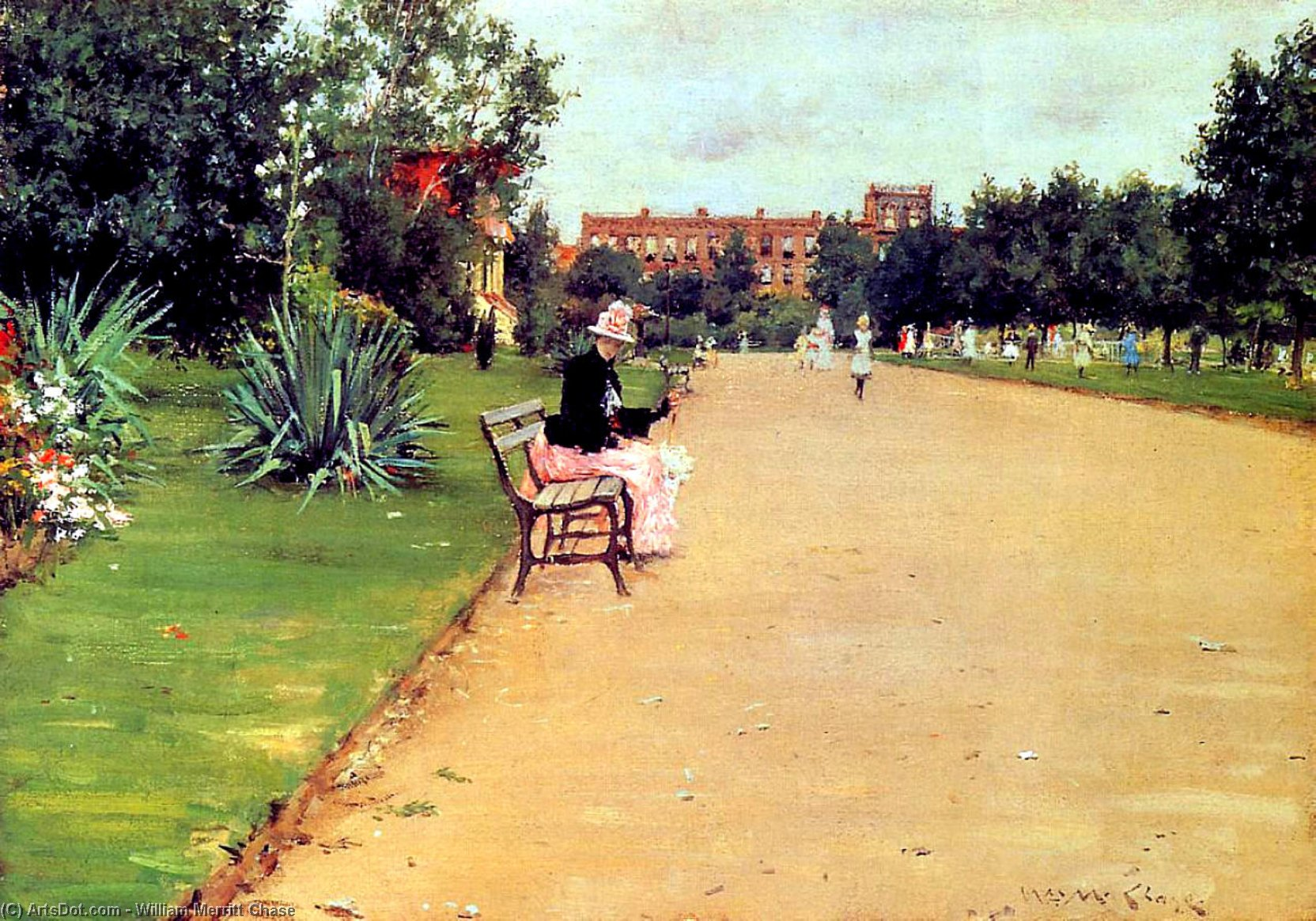 的  公园 02  , 1887 通过 William Merritt Chase (1849-1916, United States)