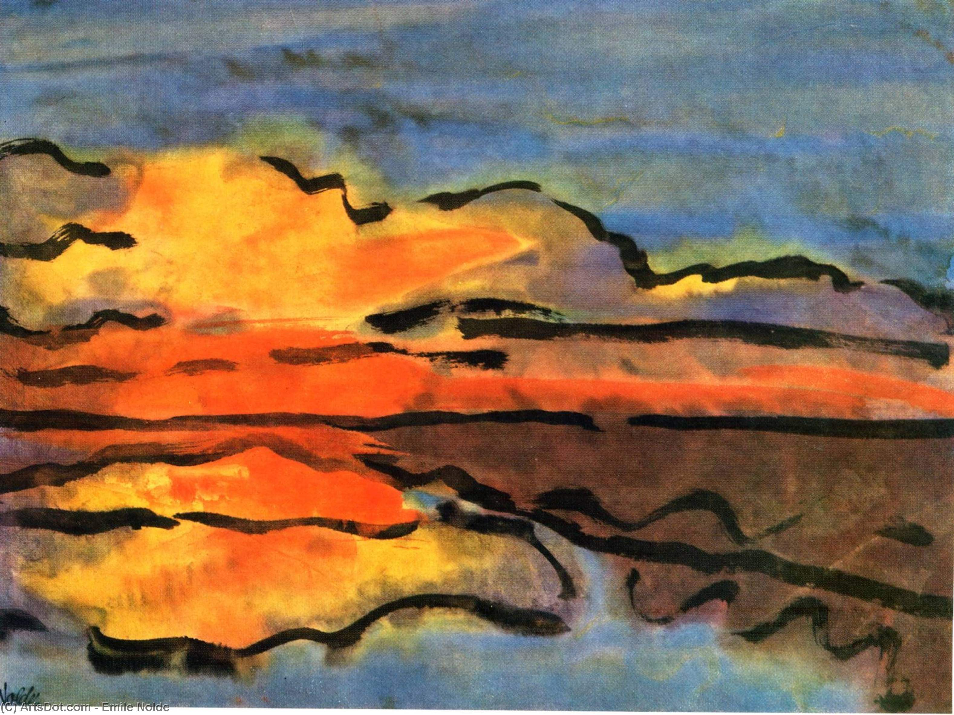 无 1534   通过 Emile Nolde (1867-1956, Germany) | 畫再現 | ArtsDot.com