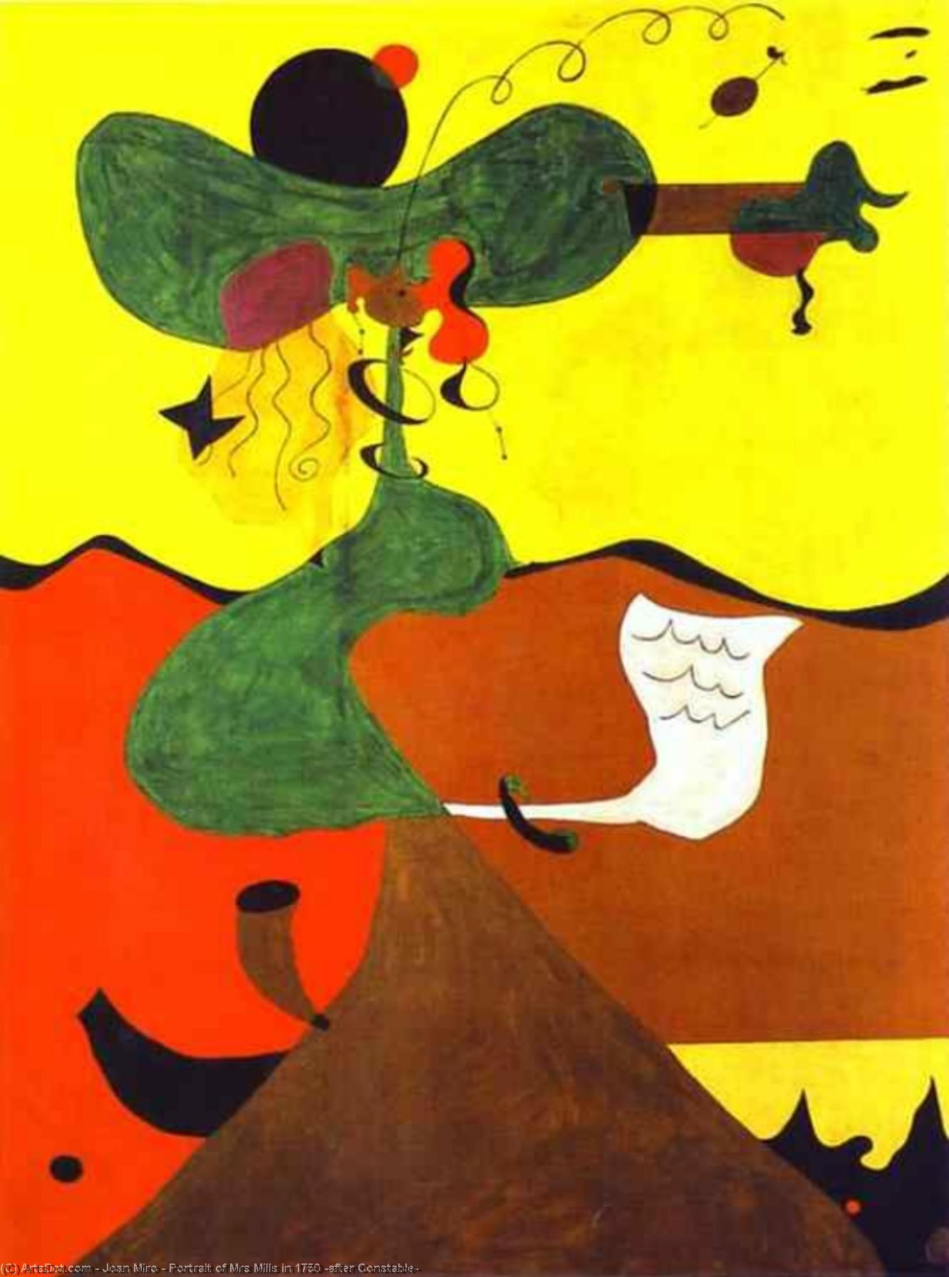 顺序 畫再現 : 夫人的画像 磨坊  在  1750   后  警官  通过 Joan Miro (1893-1937, Spain) | ArtsDot.com