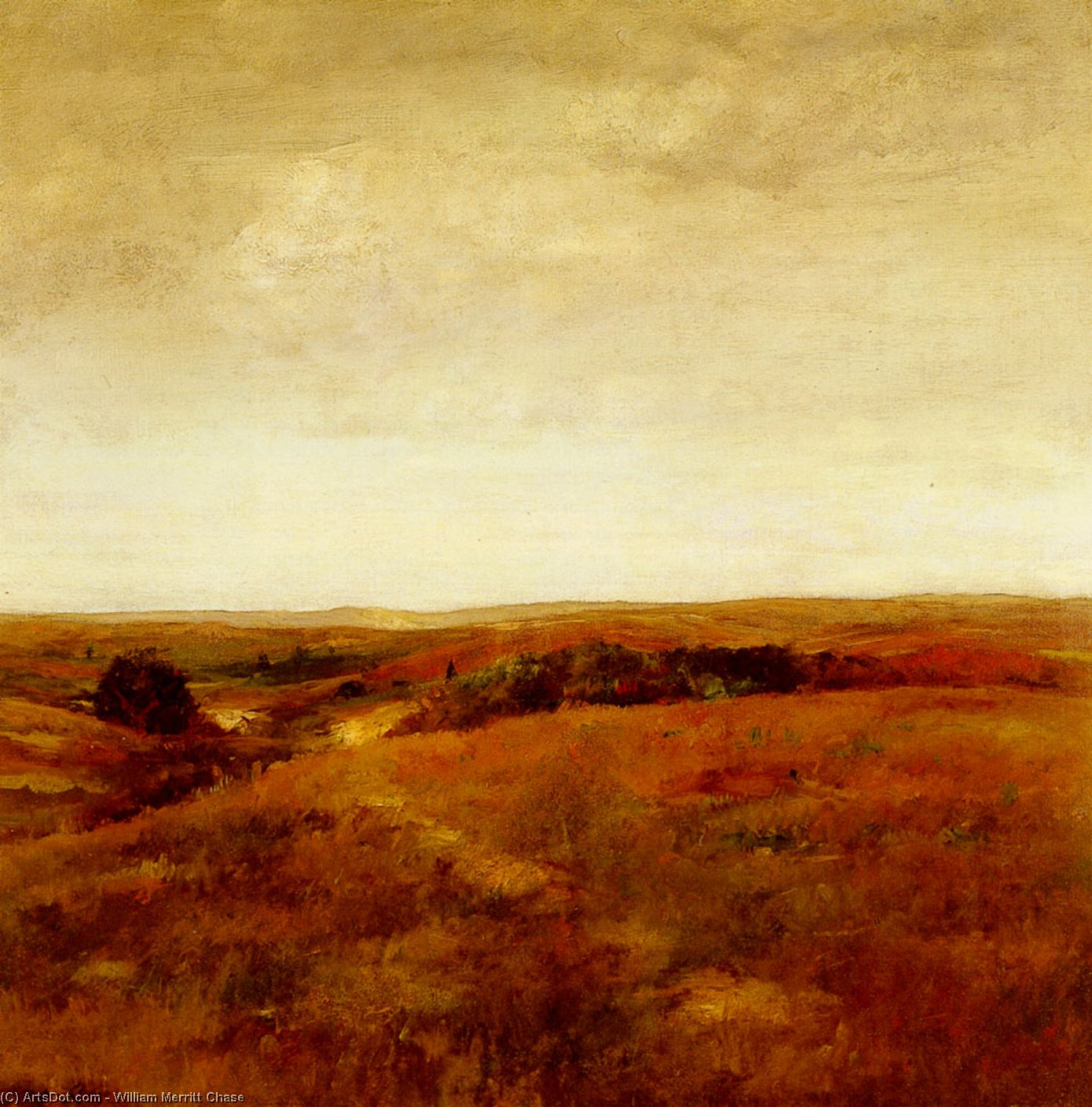 十月, 油画 通过 William Merritt Chase (1849-1916, United States)