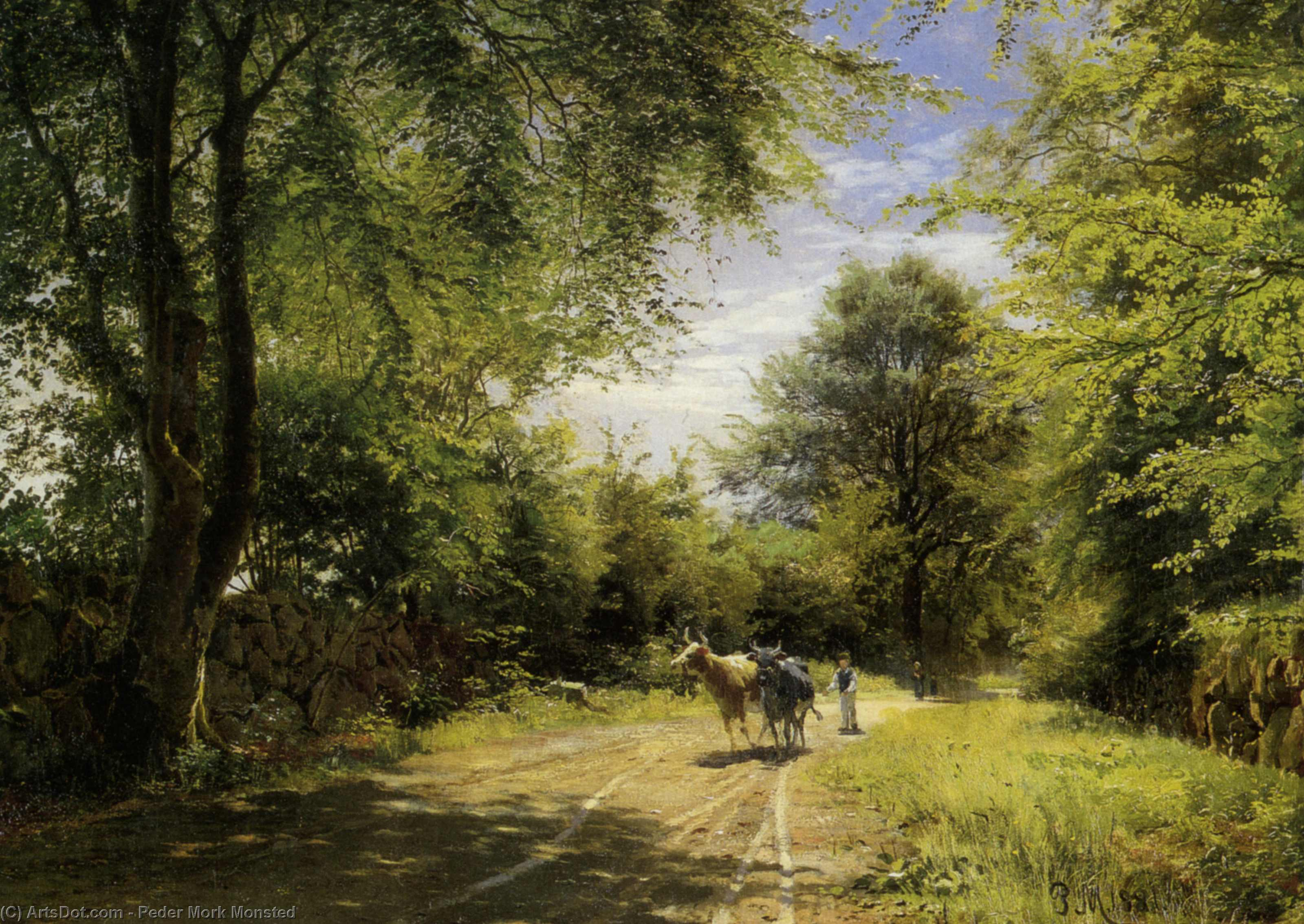 年轻牛郎 通过 Peder Mork Monsted (1859-1941, Denmark) | 幀畫冊專輯 | ArtsDot.com