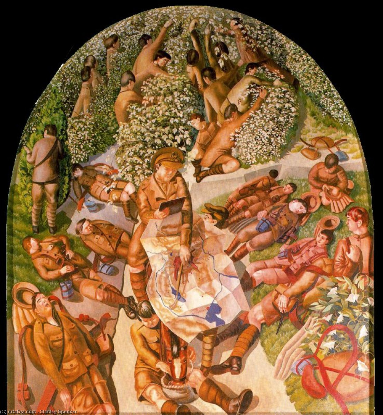 地图阅读 通过 Stanley Spencer (1891-1959, United Kingdom)