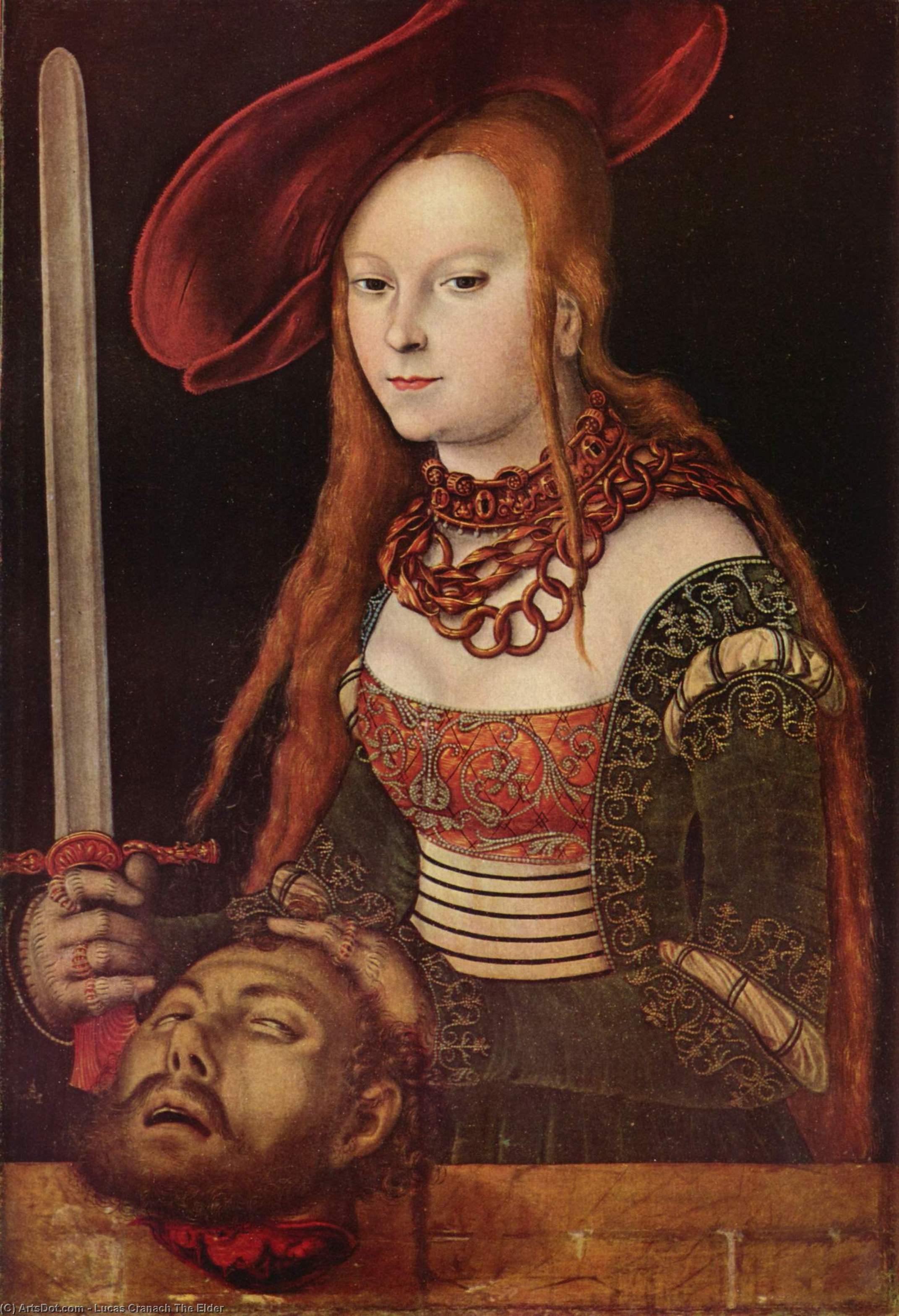 朱迪思, 油 通过 Lucas Cranach The Elder (1472-1553, Germany)