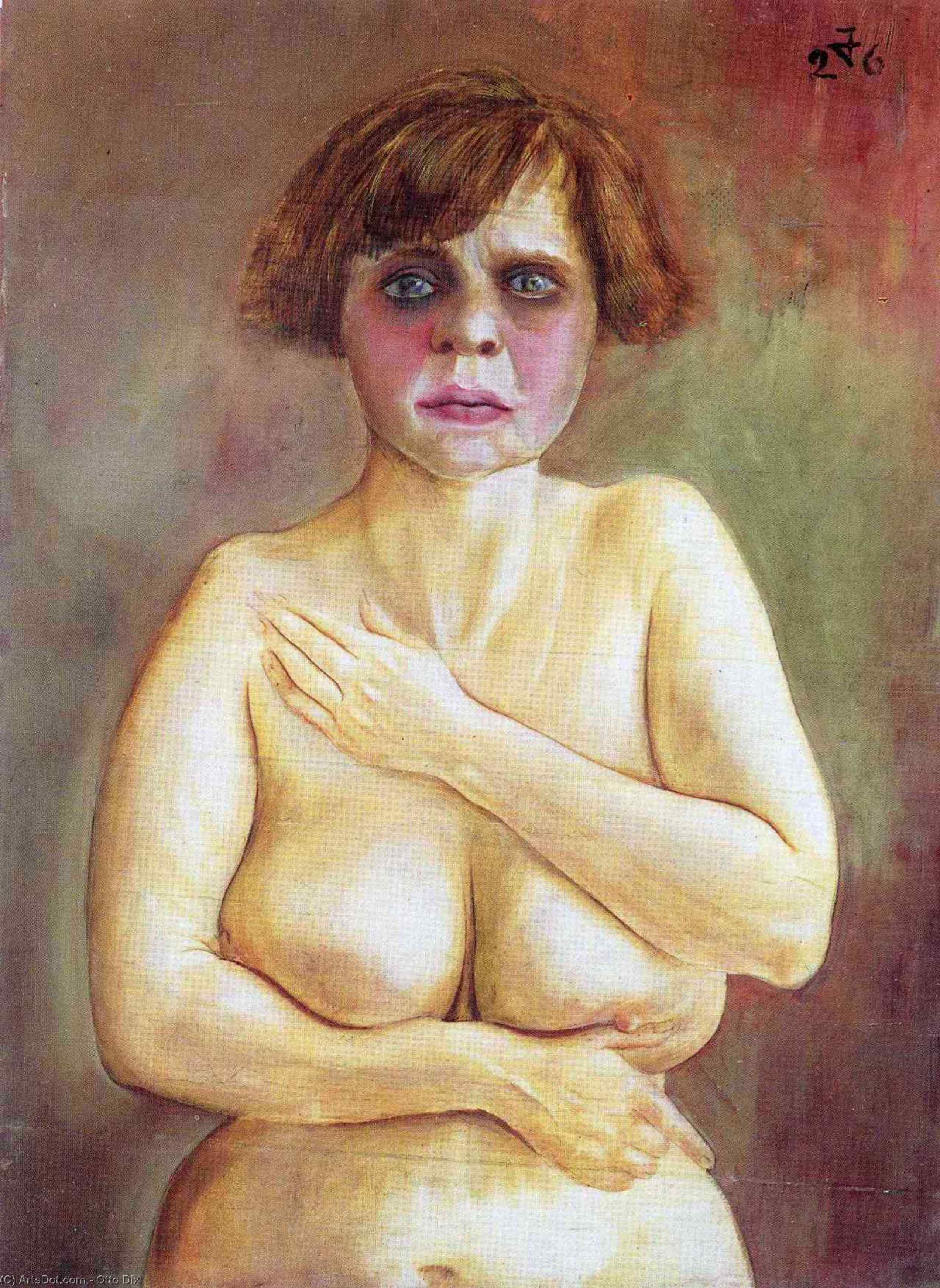 Half-Nude 通过 Otto Dix (1891-1969, Germany) | 幀畫冊專輯 | ArtsDot.com