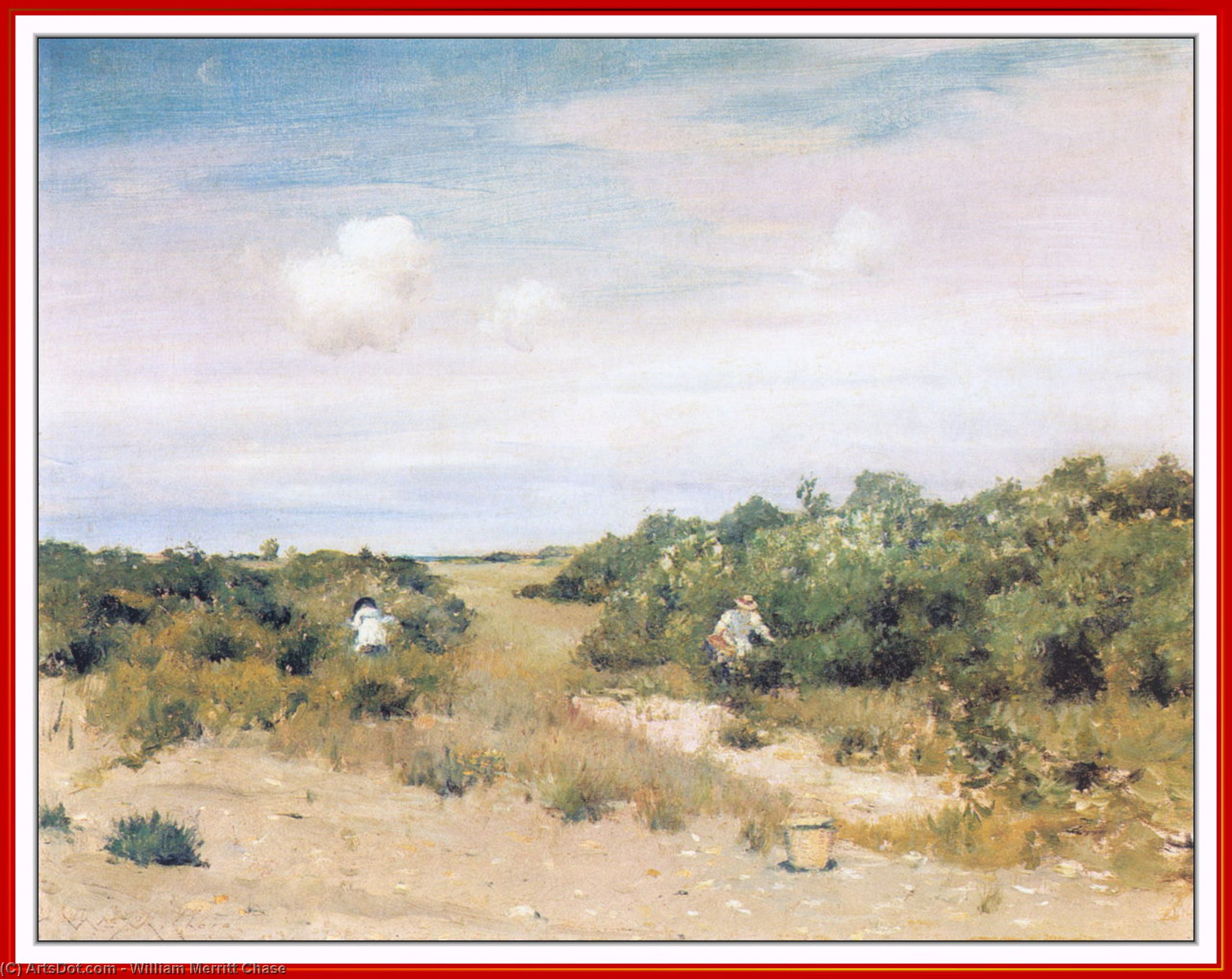 辛纳科克山 长岛  通过 William Merritt Chase (1849-1916, United States)
