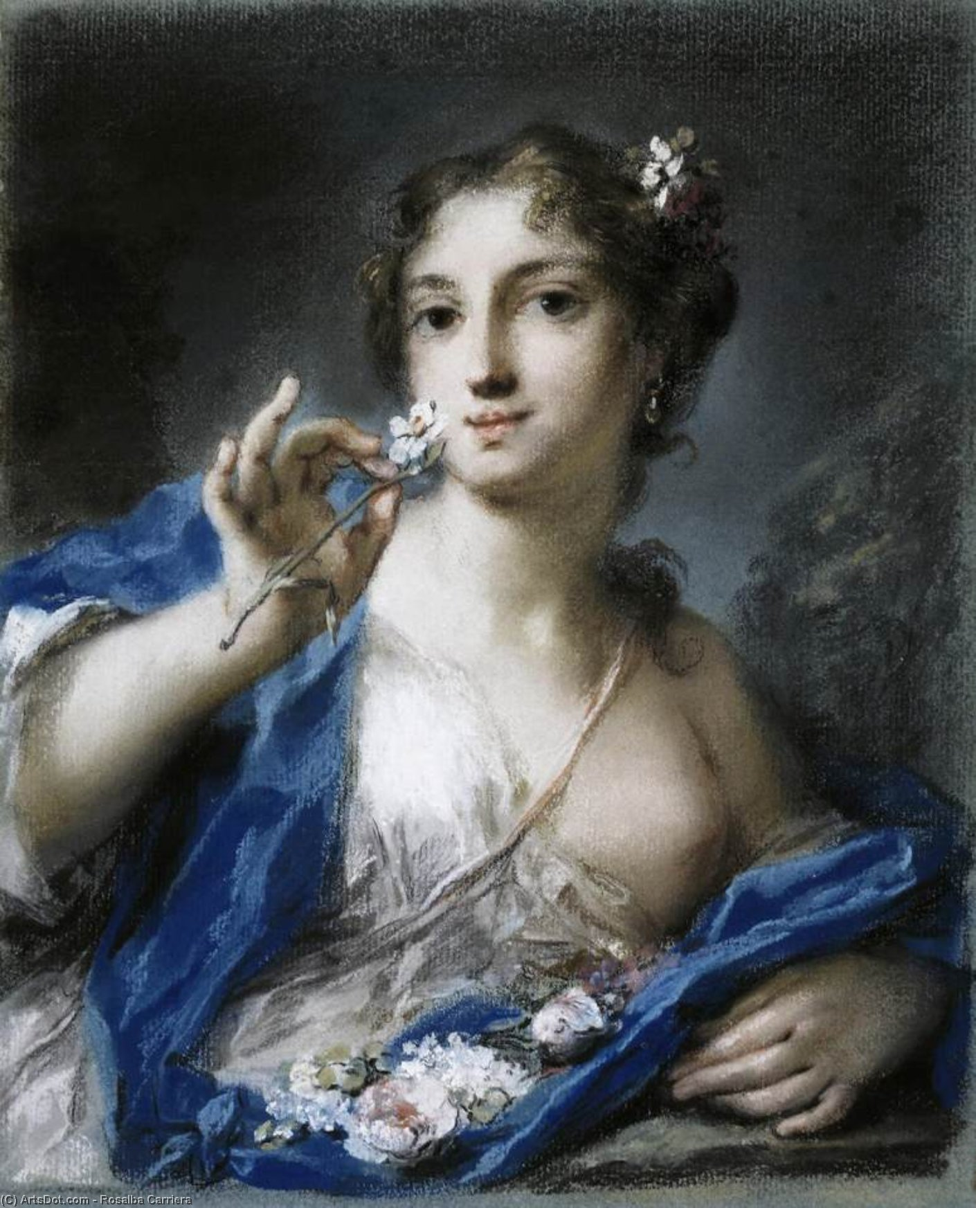 春季, 柔和 通过 Rosalba Carriera (1675-1757, Italy)