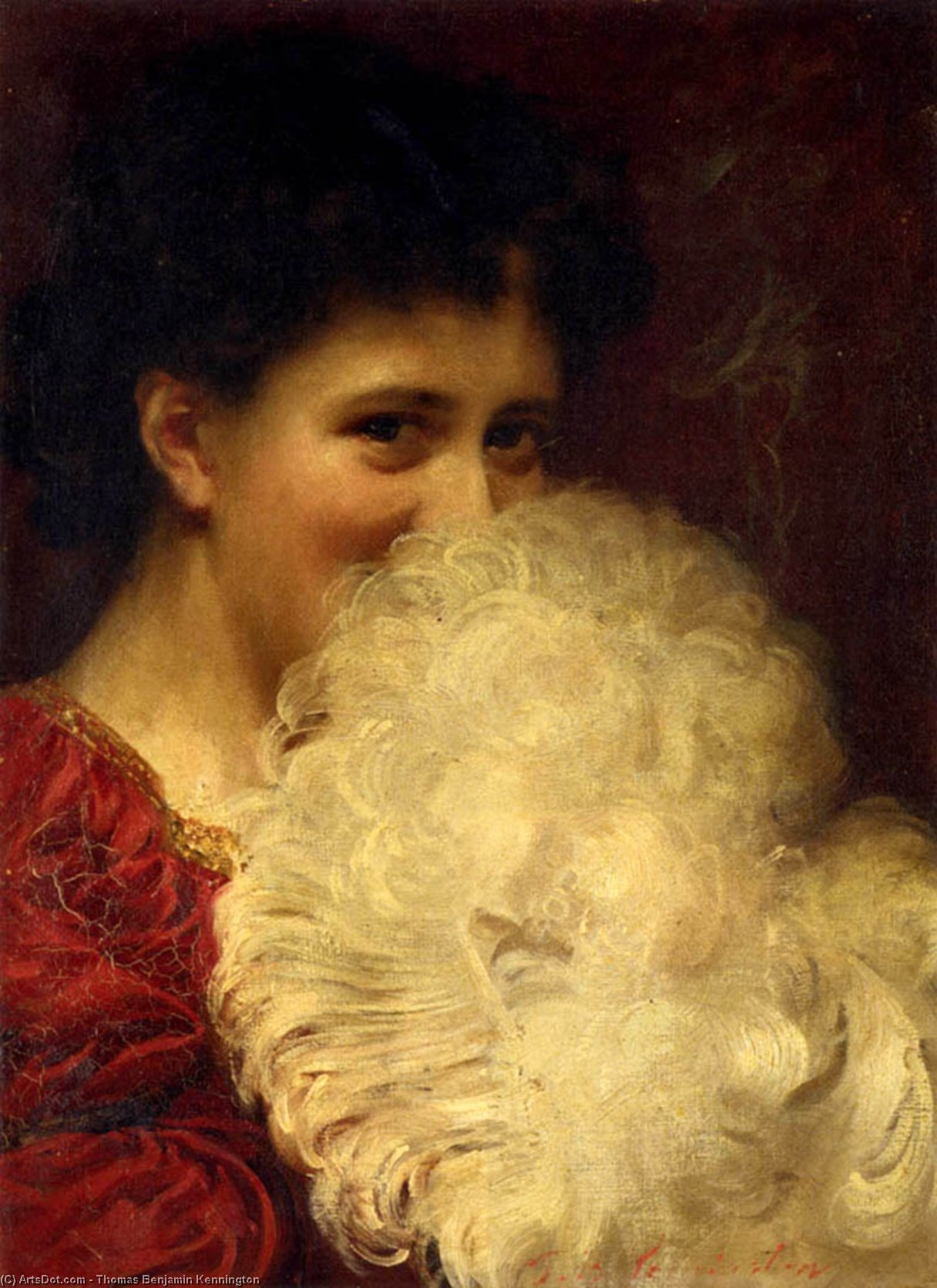 一缕烟 通过 Thomas Benjamin Kennington (1856-1916, United Kingdom)