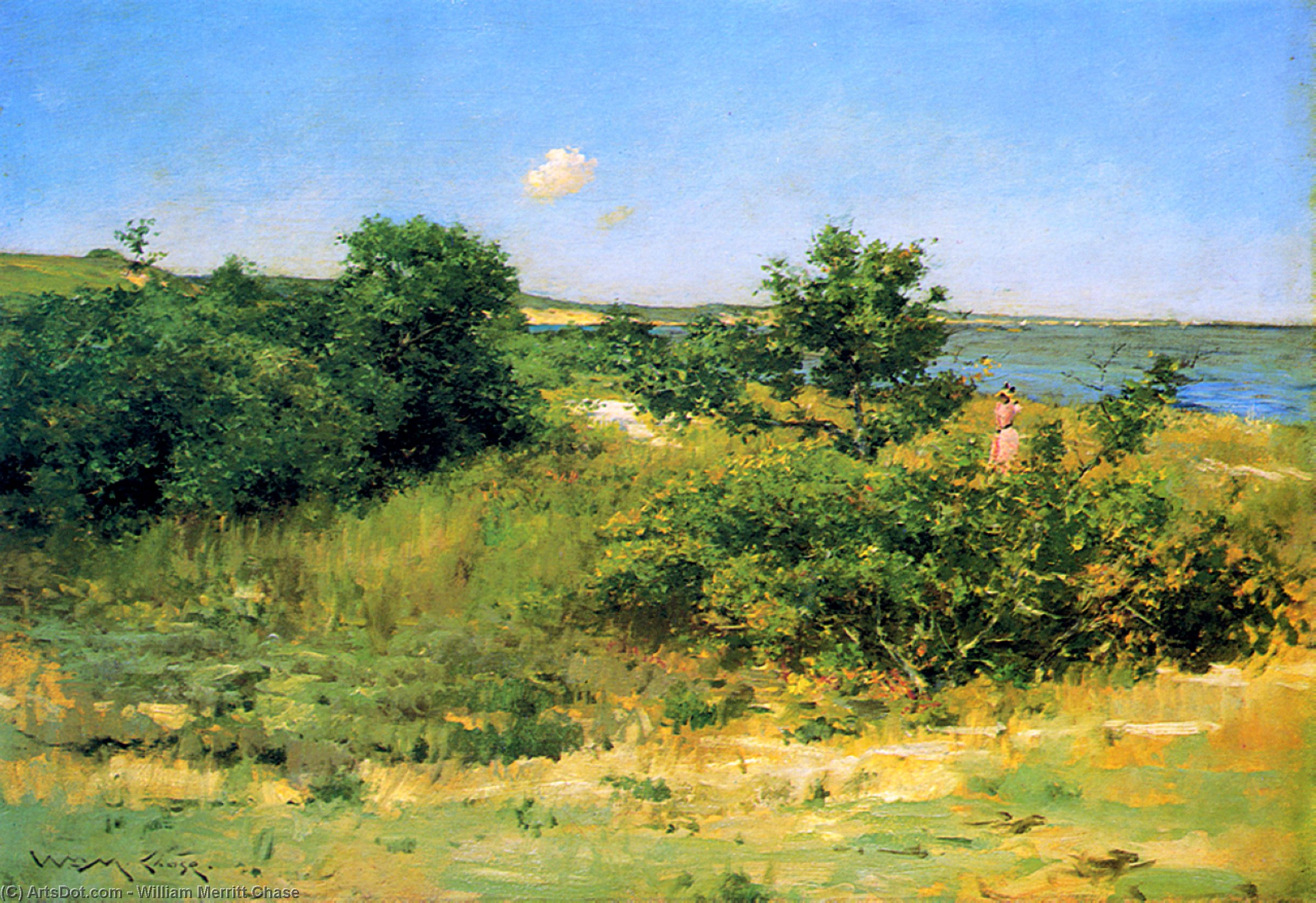 辛纳科克山 皮科尼克  海湾 , 1902 通过 William Merritt Chase (1849-1916, United States) | ArtsDot.com