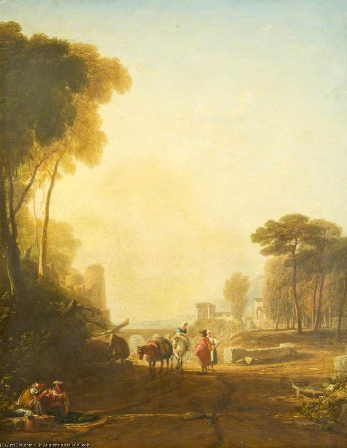 古典 风景 通过 Augustus Wall Callcott (1779-1844, United Kingdom)