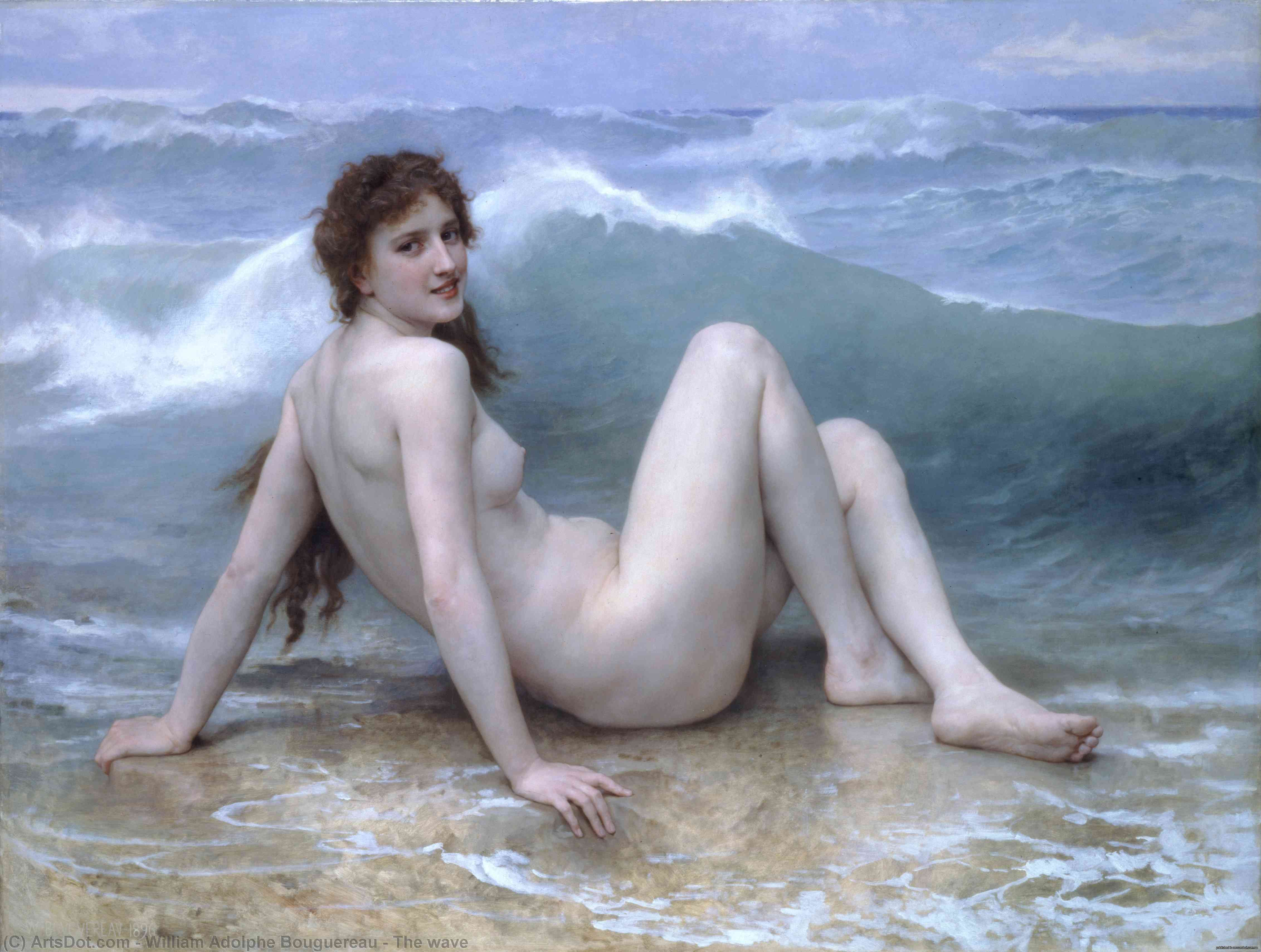 波, 1896 通过 William Adolphe Bouguereau (1825-1905, France) | 畫再現 | ArtsDot.com