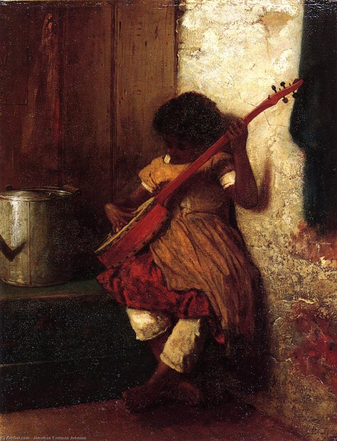 音乐本能 通过 Jonathan Eastman Johnson (1824-1906, United Kingdom) | ArtsDot.com