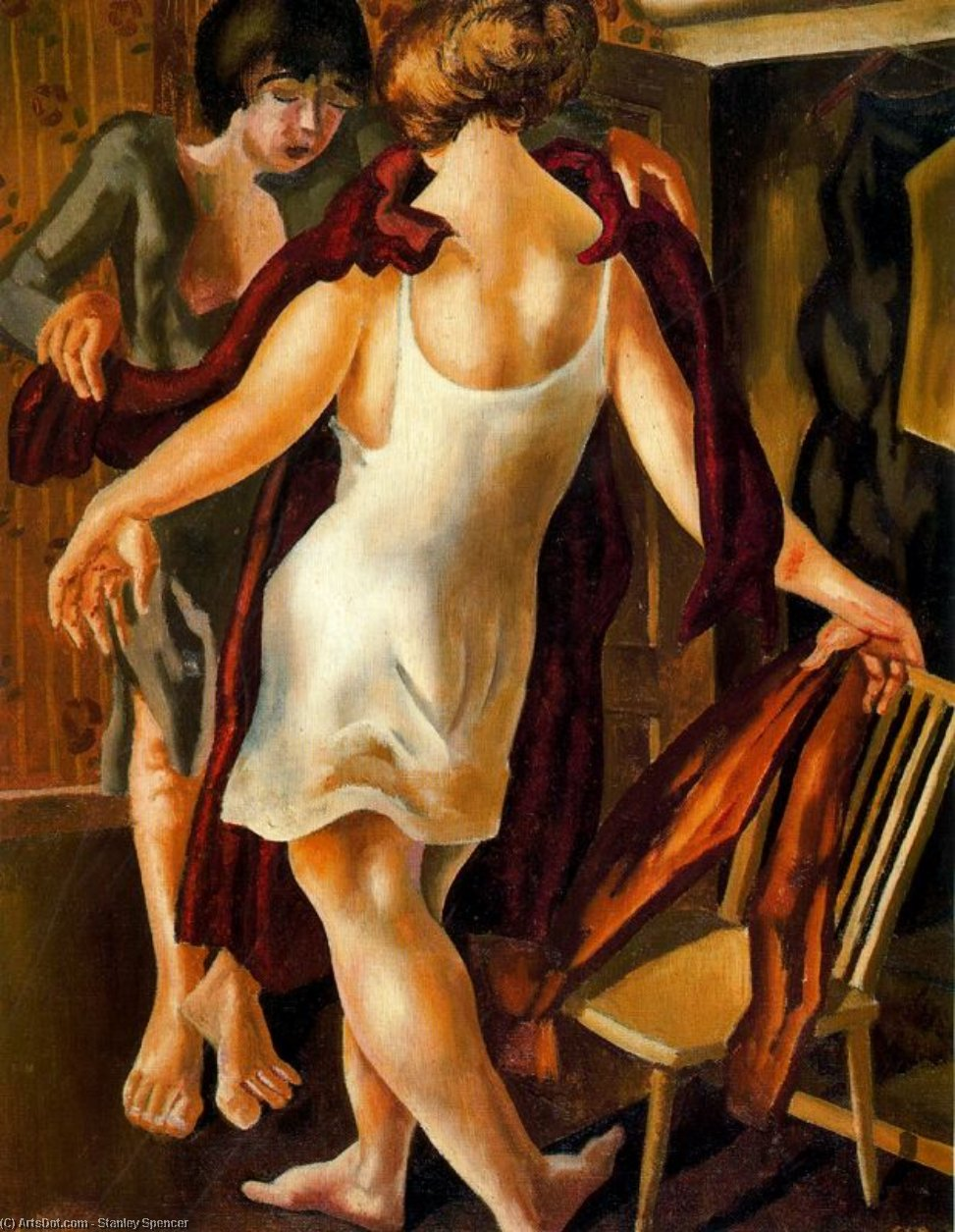 选择一个装扮 通过 Stanley Spencer (1891-1959, United Kingdom)