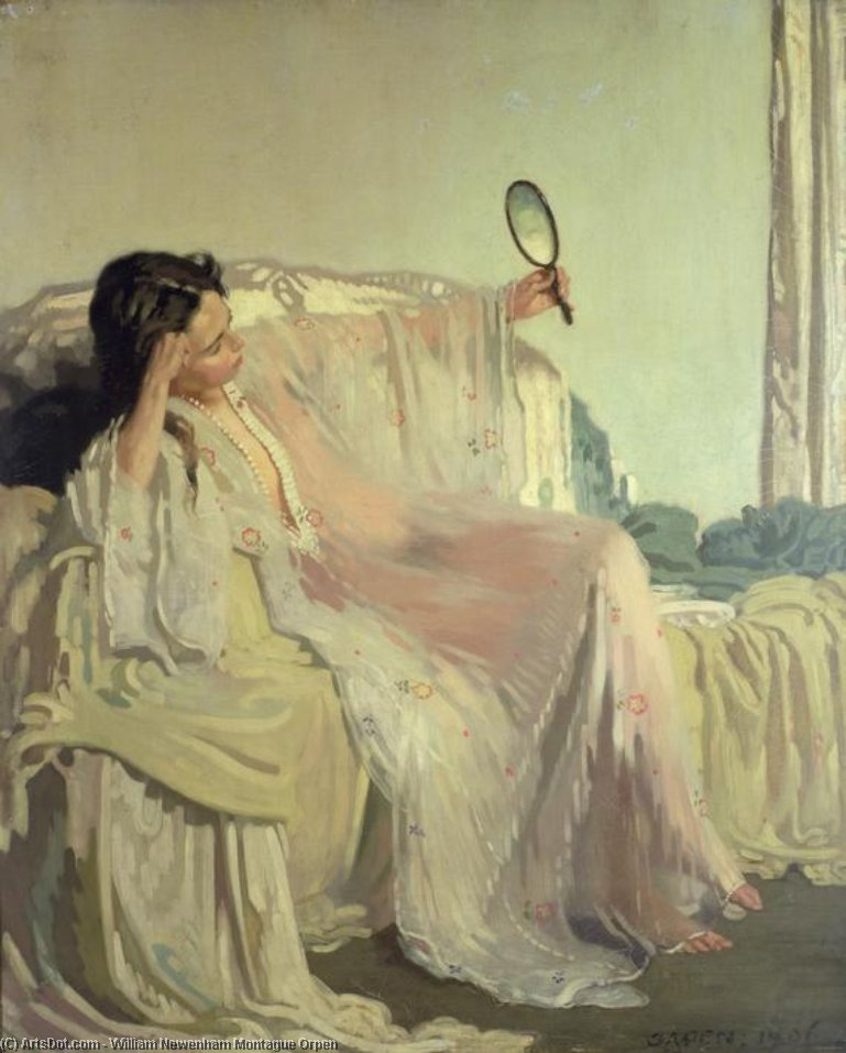 东方礼服, 1906 通过 William Newenham Montague Orpen (1878-1931, Ireland) | 傑作拷貝 | ArtsDot.com
