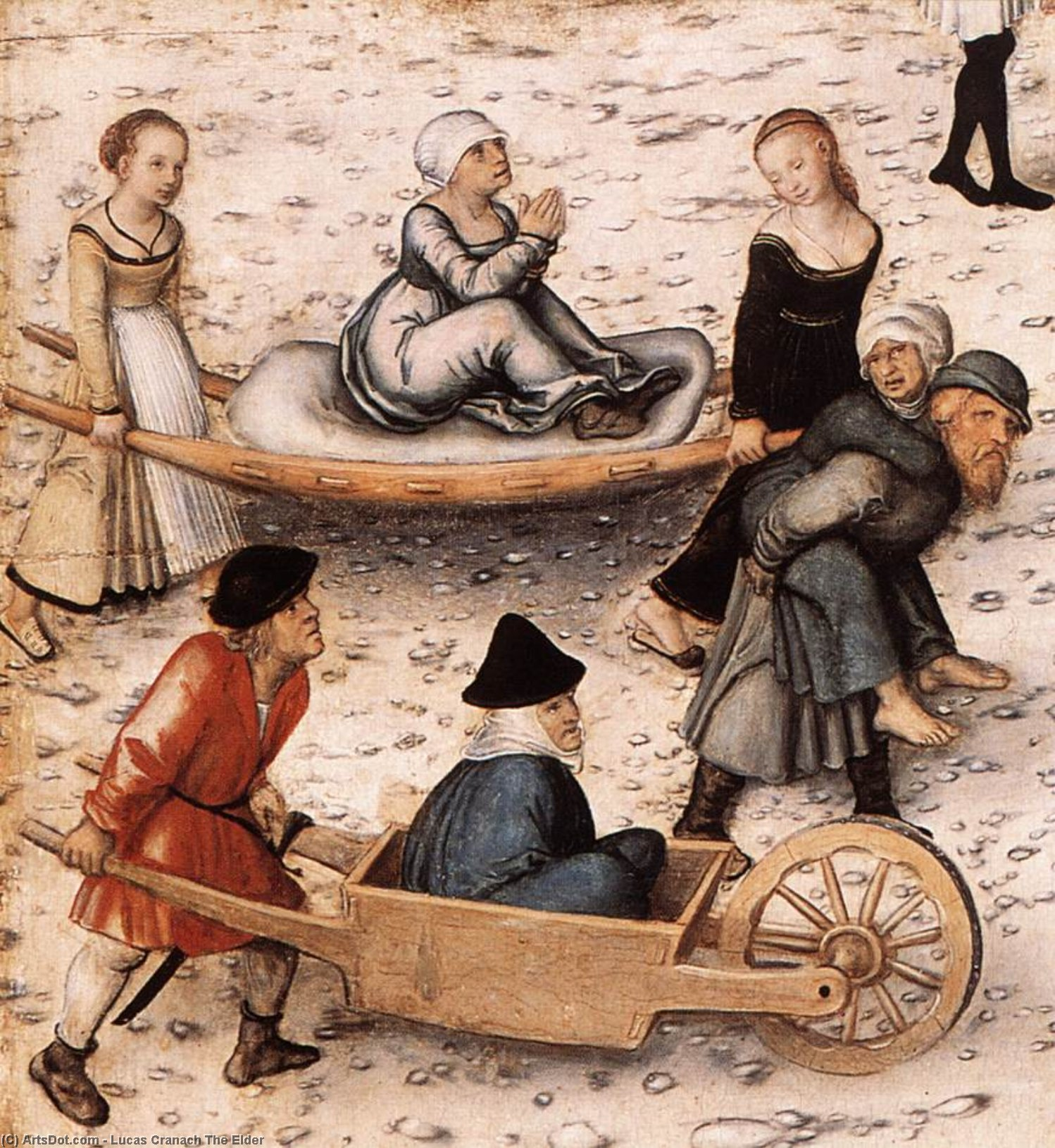 喷泉 青年  详细  2   通过 Lucas Cranach The Elder (1472-1553, Germany)