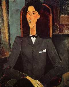 Amedeo Modigliani - 对Jean Cocteau的肖像