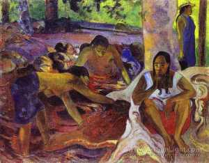 Paul Gauguin - 该fisherwomen 的  塔西提岛