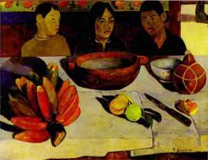 Paul Gauguin -  的 餐 的  香蕉