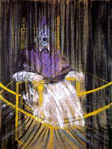 Francis Bacon - 之后学习 velazquez's 教皇无辜x的肖像..