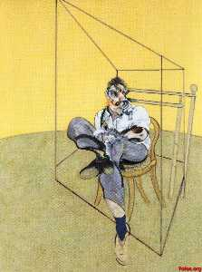 Francis Bacon - 三 研究  的  卢西恩  弗洛伊德  1969 ..
