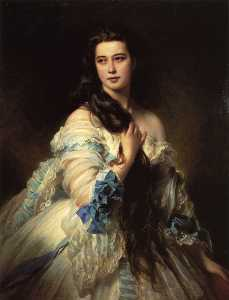 Franz Xaver Winterhalter - 巴比Dmitrievna Mergassov,杜莎..