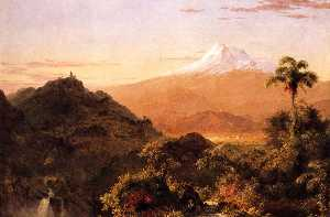 Frederic Edwin Church - 南 美国  风景