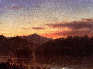 Frederic Edwin Church -  的 晚上 星