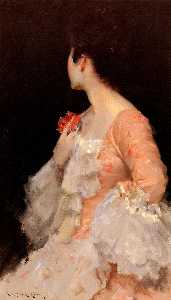 William Merritt Chase - 一个女人的肖像