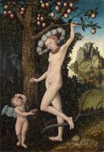 Lucas Cranach The Elder - 丘比特抱怨金星。