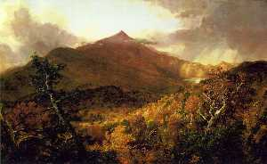 Thomas Cole - Schroon 山 , 阿迪朗达克