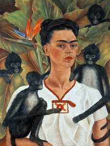 Frida Kahlo - Self-Portrait 与猴子