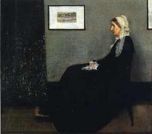 James Abbott Mcneill Whistler - 安排 在 灰色和黑色 . 的肖像 Painter-s 母亲