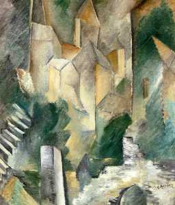 Georges Braque - Churth 在 Carrieres Saint-Denis