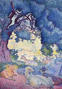 Henri Edmond Cross - 山羊