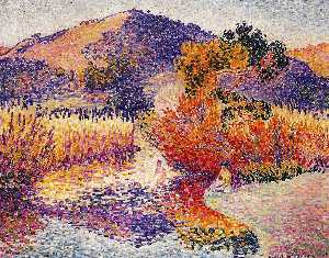 Henri Edmond Cross - 河在Saint-CIR