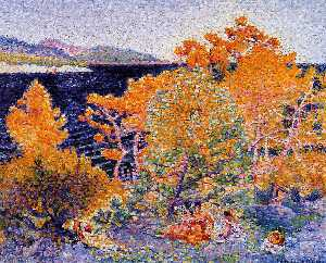 Henri Edmond Cross - 午睡的水