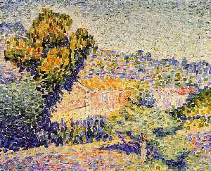 Henri Edmond Cross - 粉红色的 家