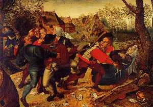 Pieter Bruegel The Younge.. - 农民争吵