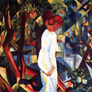 August Macke - Couple in 森林