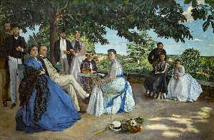 Jean Frederic Bazille - 家庭团聚