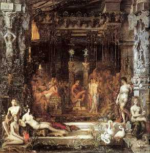 Gustave Moreau - 的女儿 的 Thespius