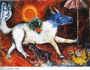 Marc Chagall - 母牛遮阳伞