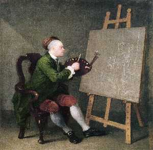 William Hogarth - 自画像