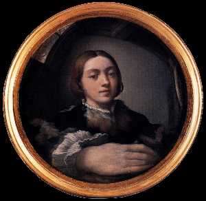 Parmigianino - Self-Portrait 在凸镜中